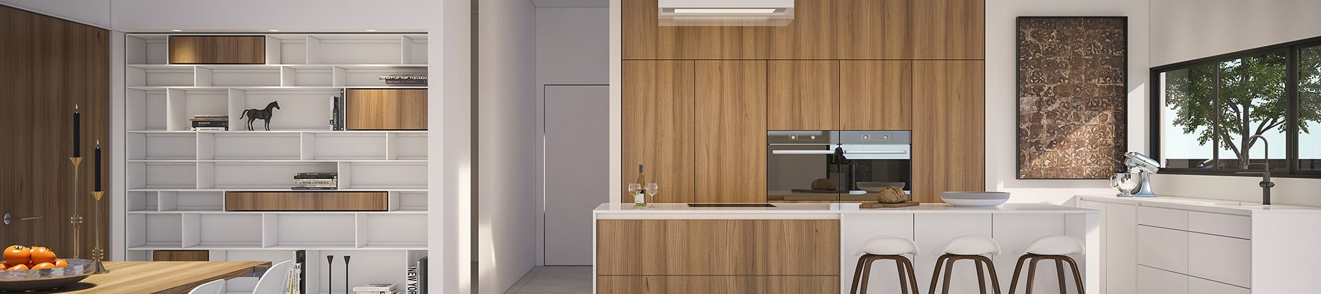 Architectural Visualization, Kitchen, Private Residence