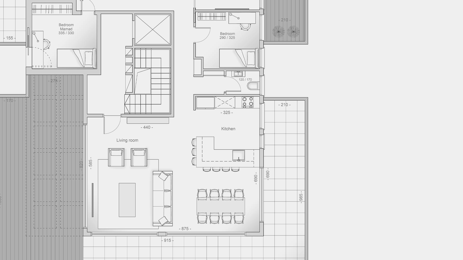 Maayan-Golan_Architectural-Visualization_2D-floor-plan_penthouse-apartment