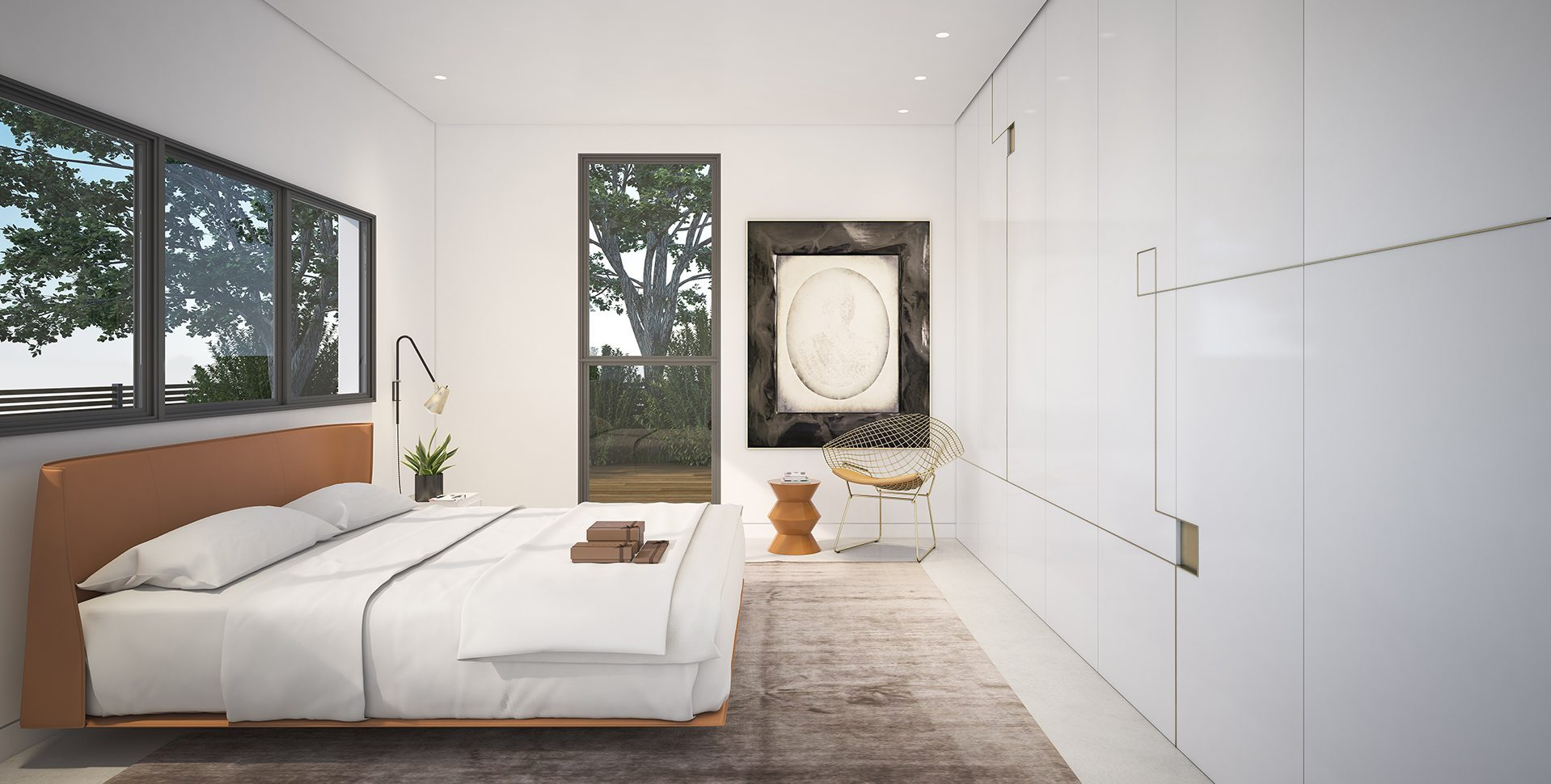 Architectural Visualization: Bedroom, Hardof Project by El-Yam