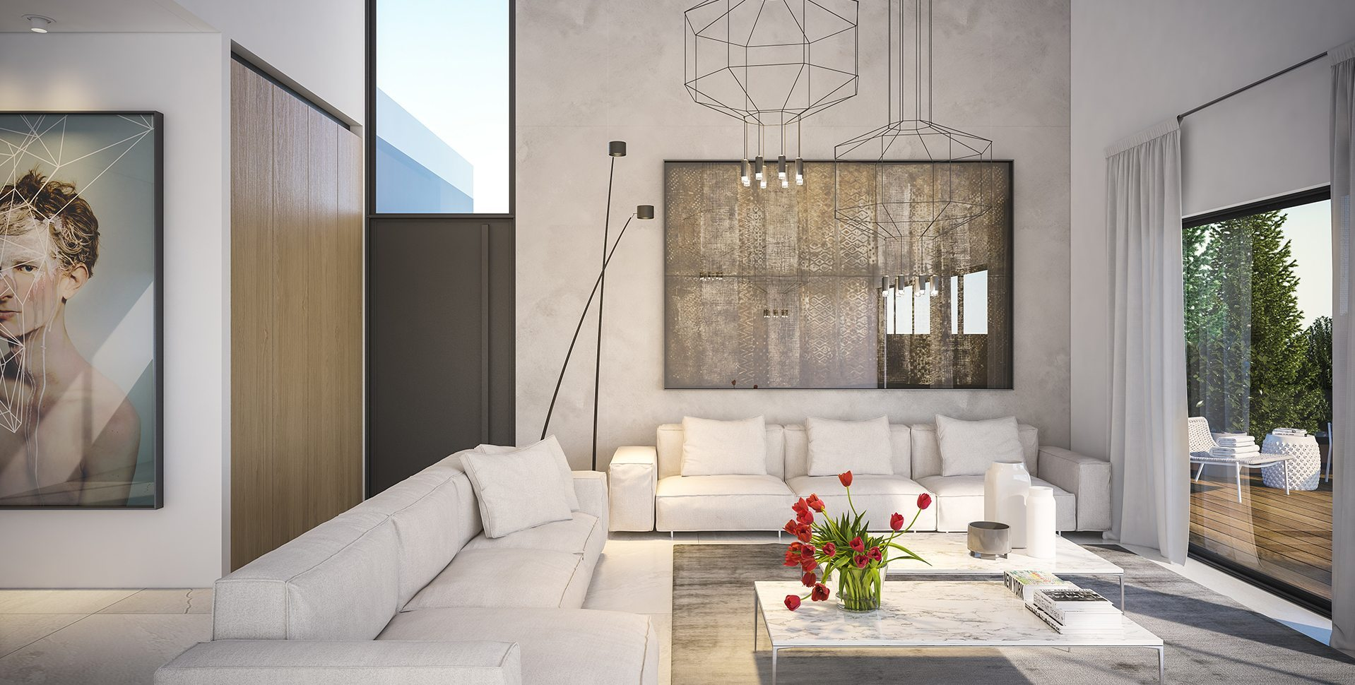 Architectural Visualization: Living room, Hardof Project by El-Yam