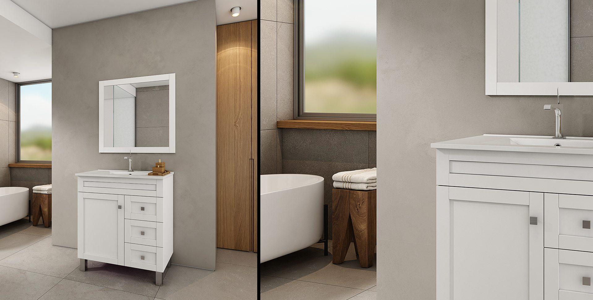 Product Visualization: Bathroom Cabinets by El-Gal, Bathroom interior Design