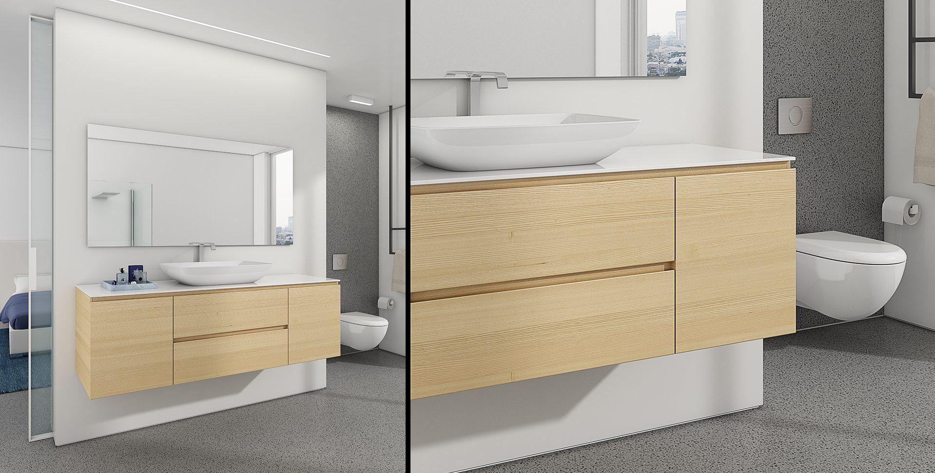 Product Visualization: Bathroom Cabinets by El-Gal, Modern Bathroom interior Design