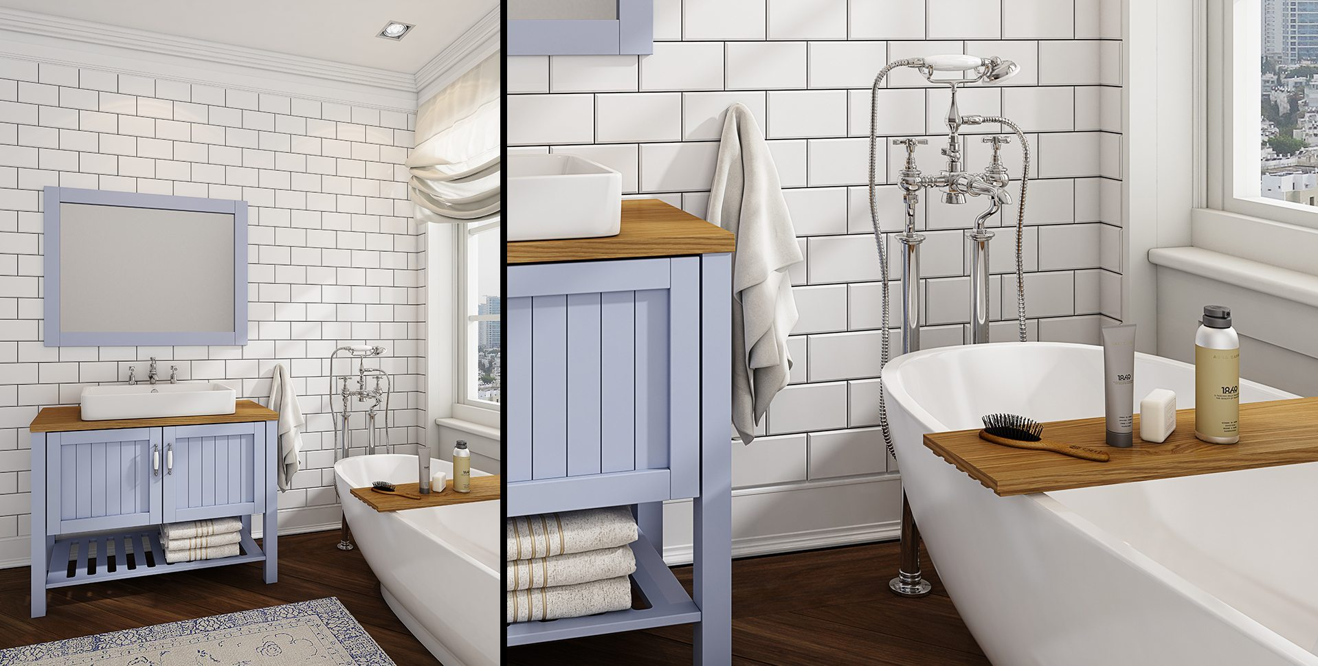 Product Visualization: Bathroom Cabinets by El-Gal, Classic Bathroom interior Design