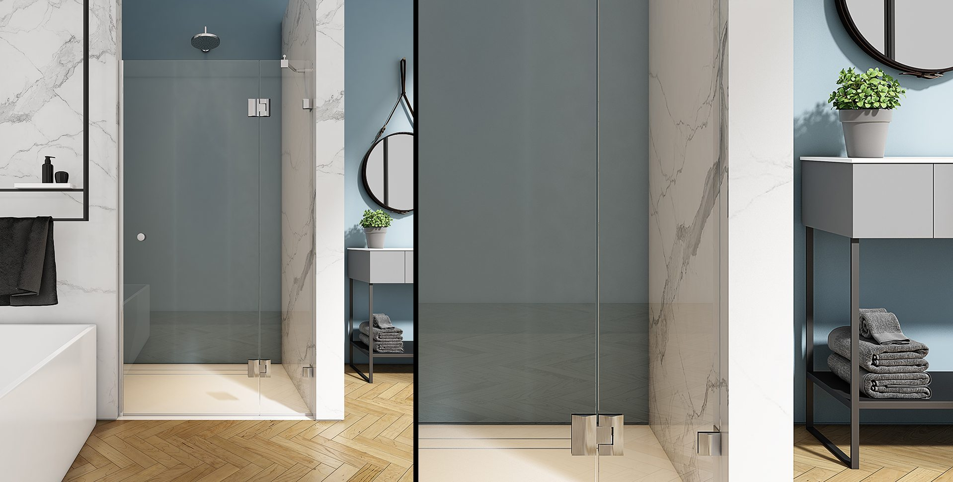 Product Visualization: Shower by El-Gal, Bathroom interior Design