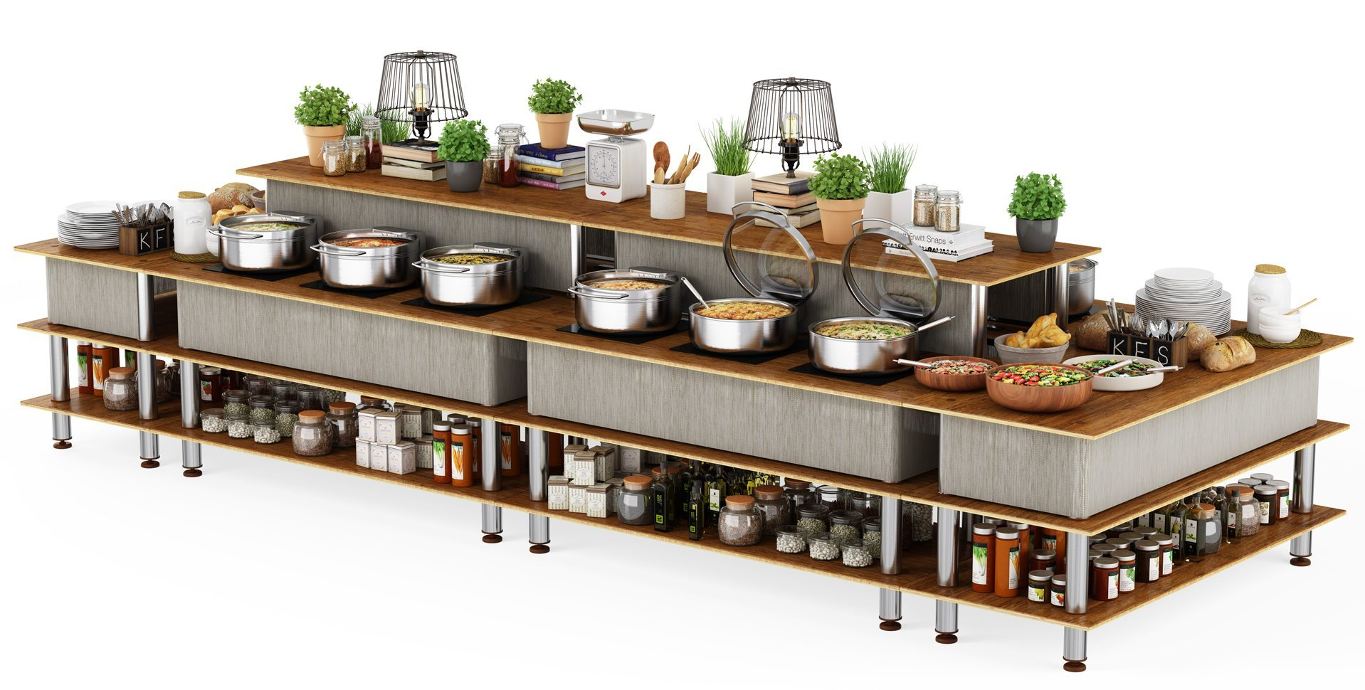 Product Visualization: Professional Buffet Solutions