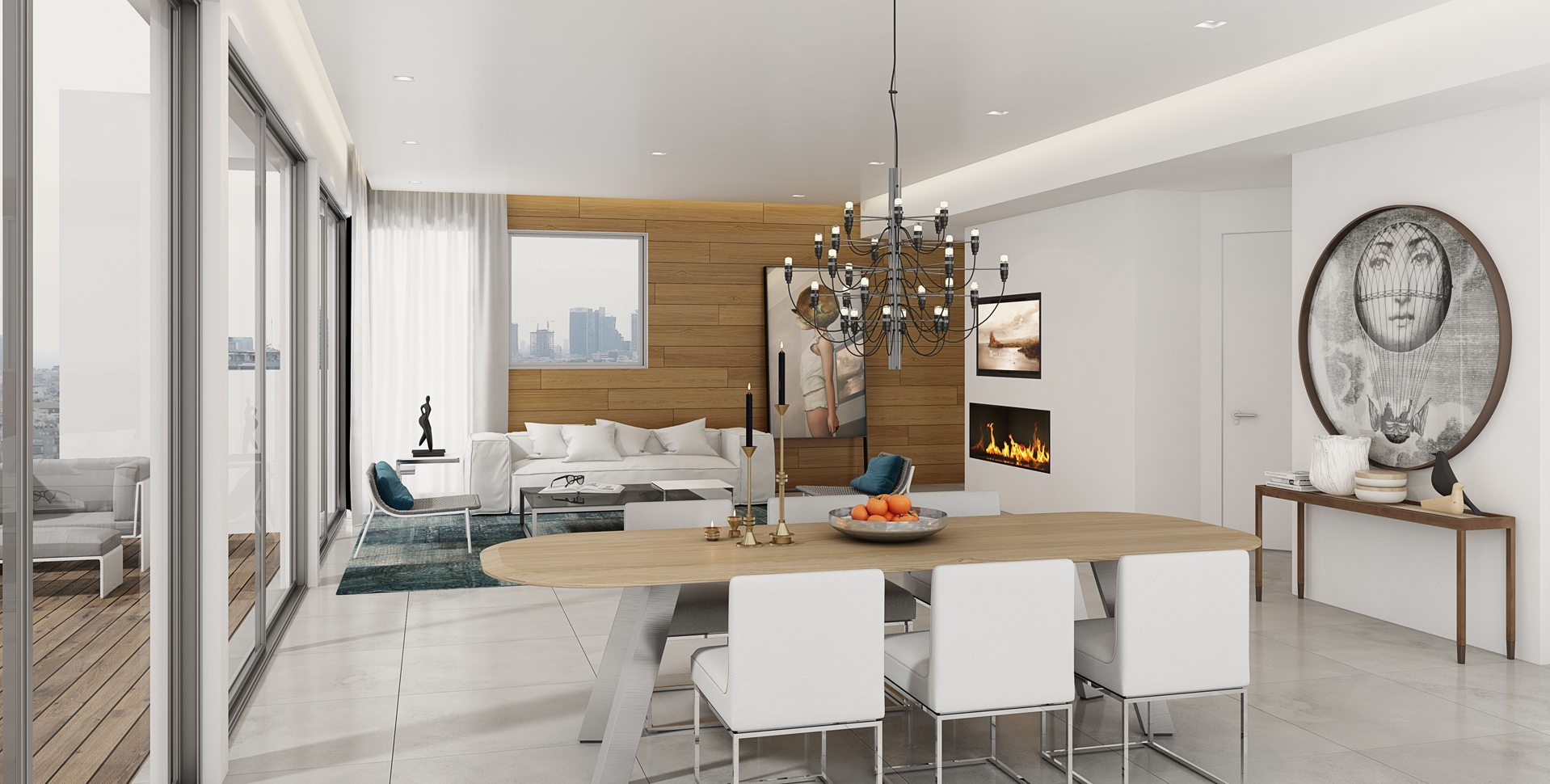 Architectural Visualization: Penthouse Interior, Living room