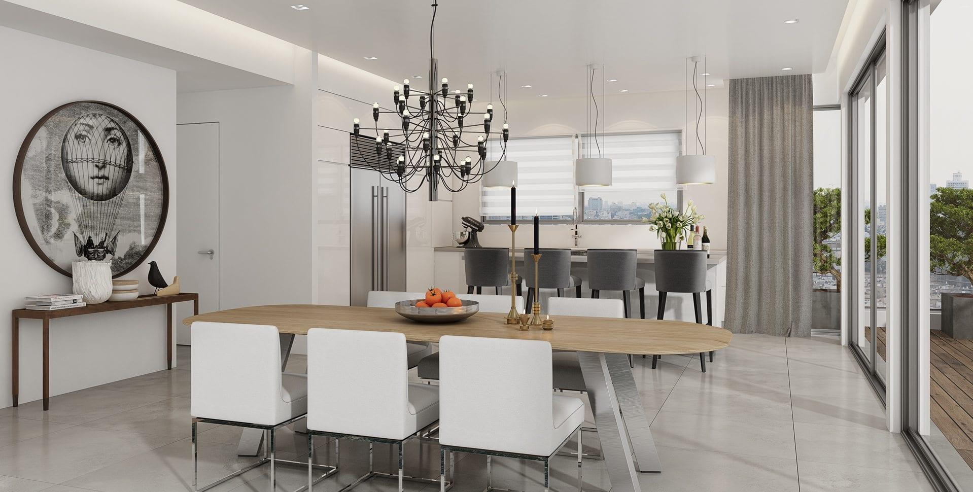 Maayan-Golan_Architectural-Visualization_ penthouse-interior-visualization_kitchen-dining_design-Lior Reuter_03