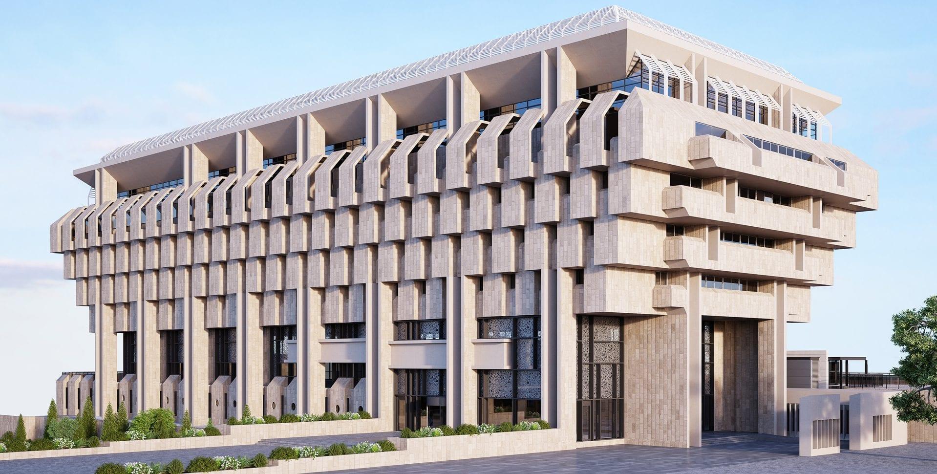 Maayan-Golan_Architectural-Visualization_exterior-visualization_bank-of-israel-jerusalem_front-elevation_dunski-architects_01