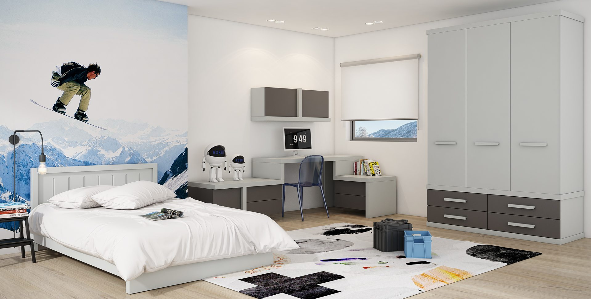 Product Visualization: Teen room, Furniture by Barzilay