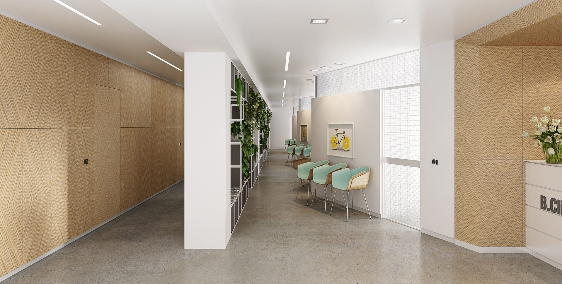 Maayan-Golan_Architectural-Visualization_ clinic-visualization_entrance_habarzel-tel-aviv_design-zarka-arch-naomi-szwec_03