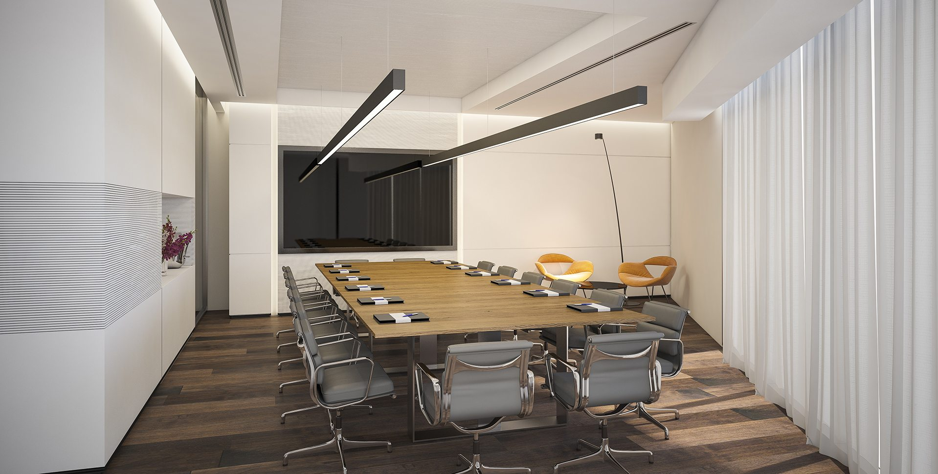 Architectural Visualization: BDSK Meeting room by Dunsky Architects