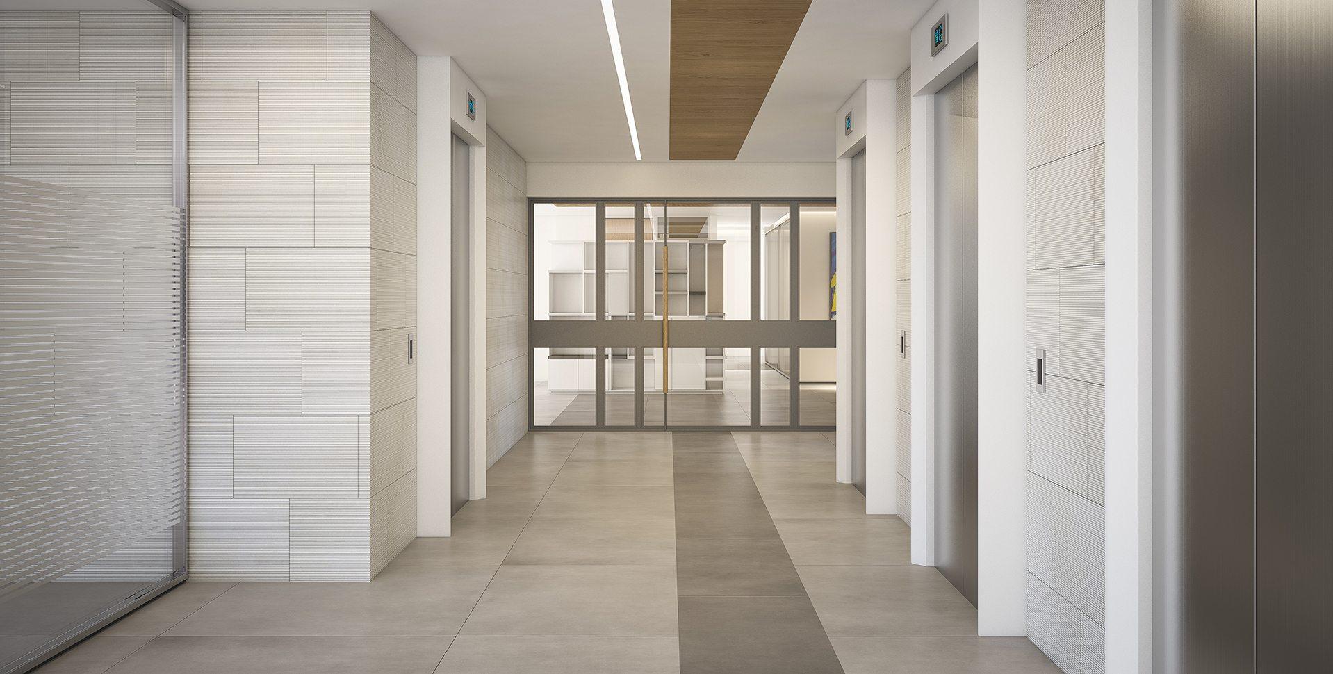 Architectural Visualization: BDSK Hallway by Dunsky Architects