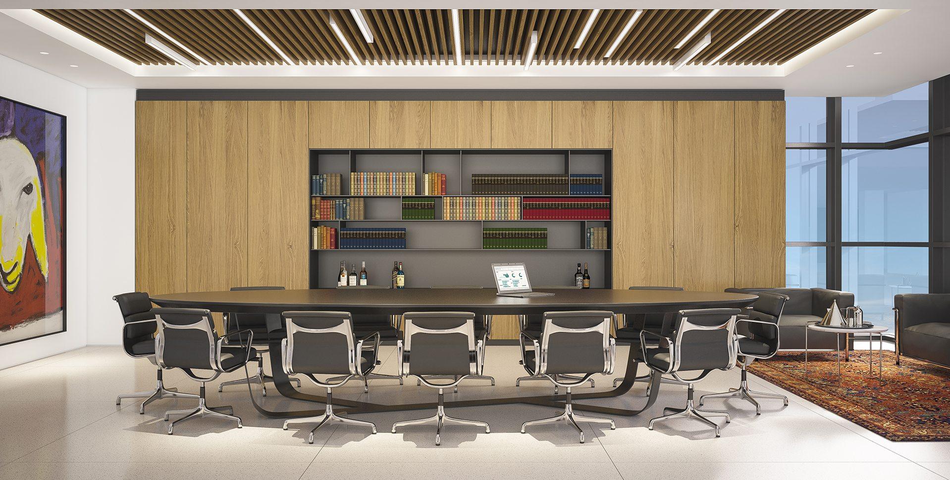 Architectural Visualization: Meeting Room Interior Design