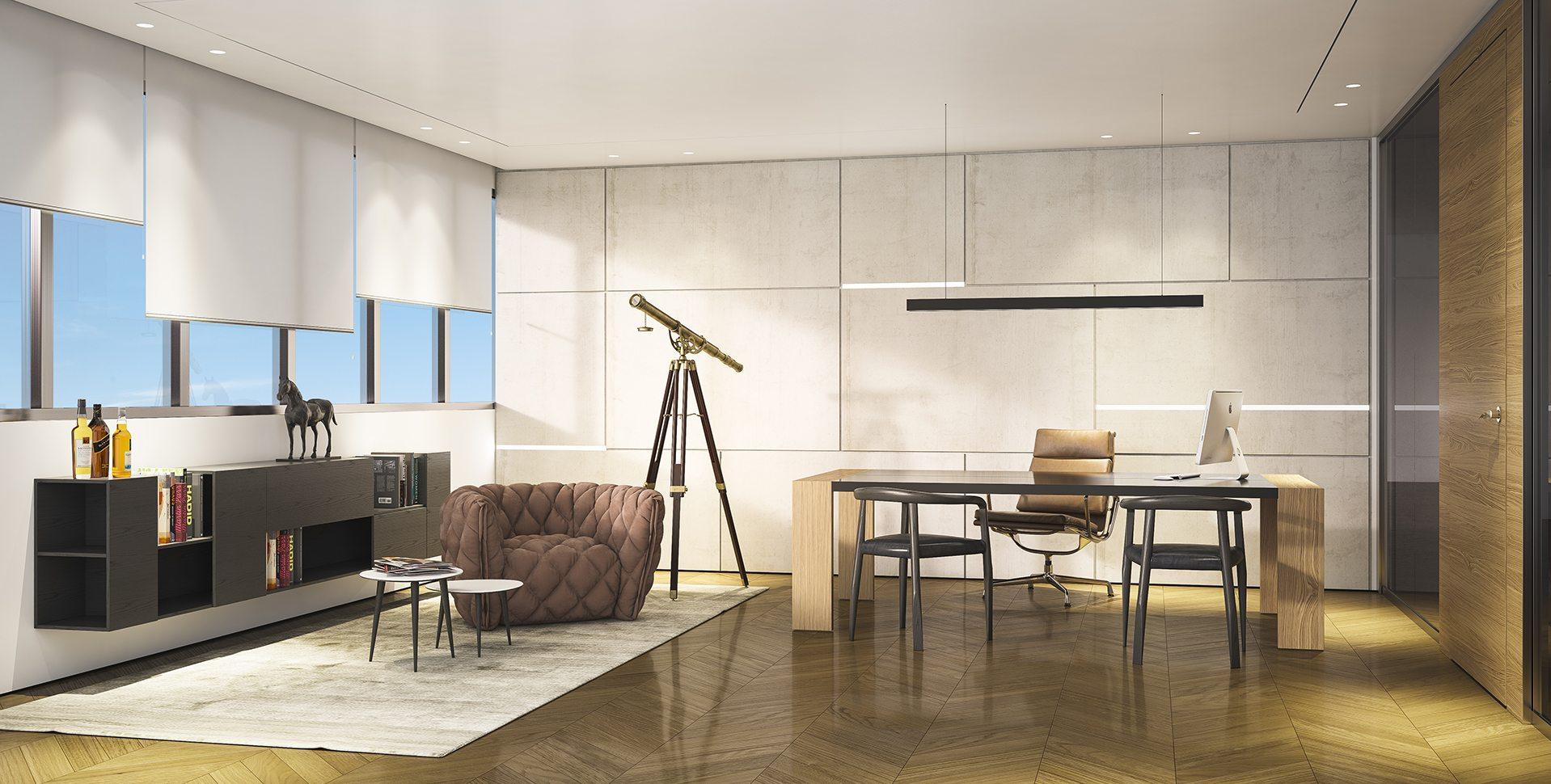 Architectural Visualization: CEO Office Interior Design
