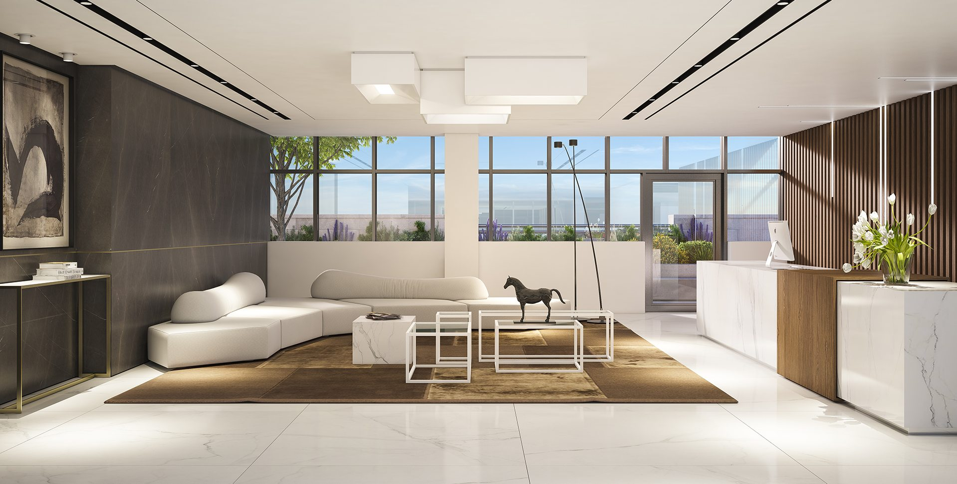 Architectural Visualization: Office Lobby