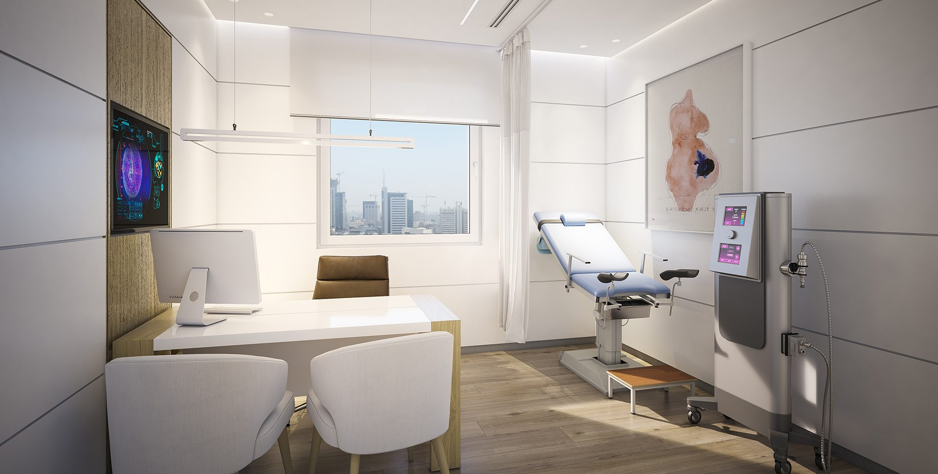 Architectural Visualization: Clinic Medical Room, Naara Medical Center