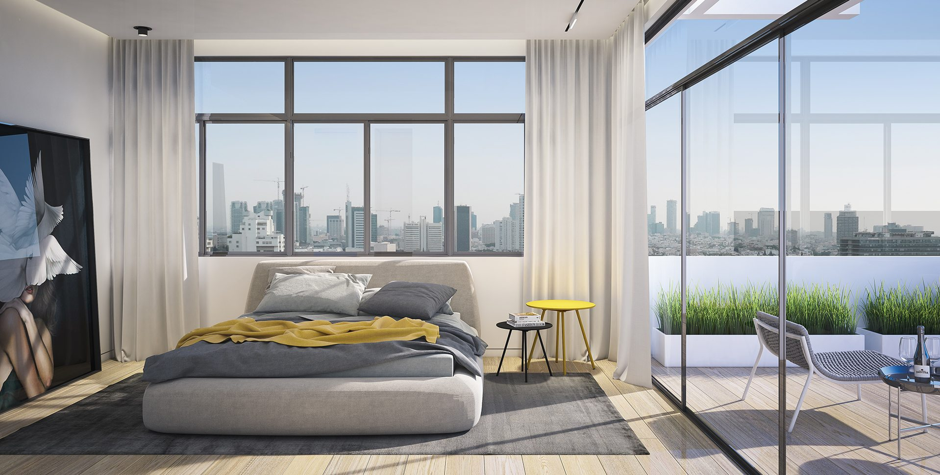 Architectural Visualization: Penthouse Bedroom