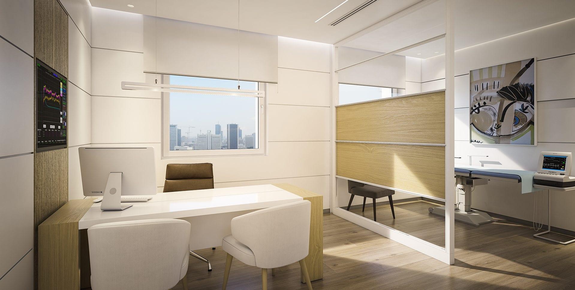 Maayan-Golan_Architectural-Visualization_ clinic-interior-visualization_ doctors-office_naara-medical-center_habarzel-tel-aviv_02