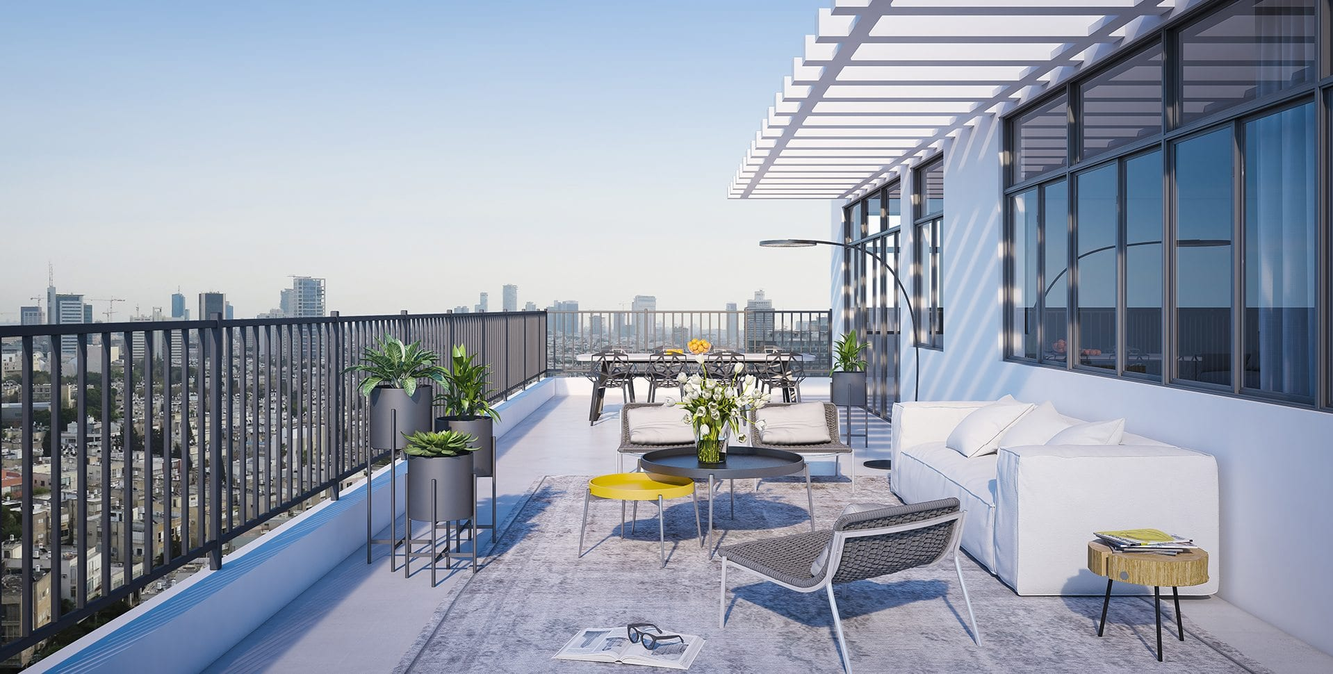 Maayan-Golan_Architectural-Visualization_ penthouse-balcony_exterior-visualization_ Dizengoff-189-tel-aviv_08