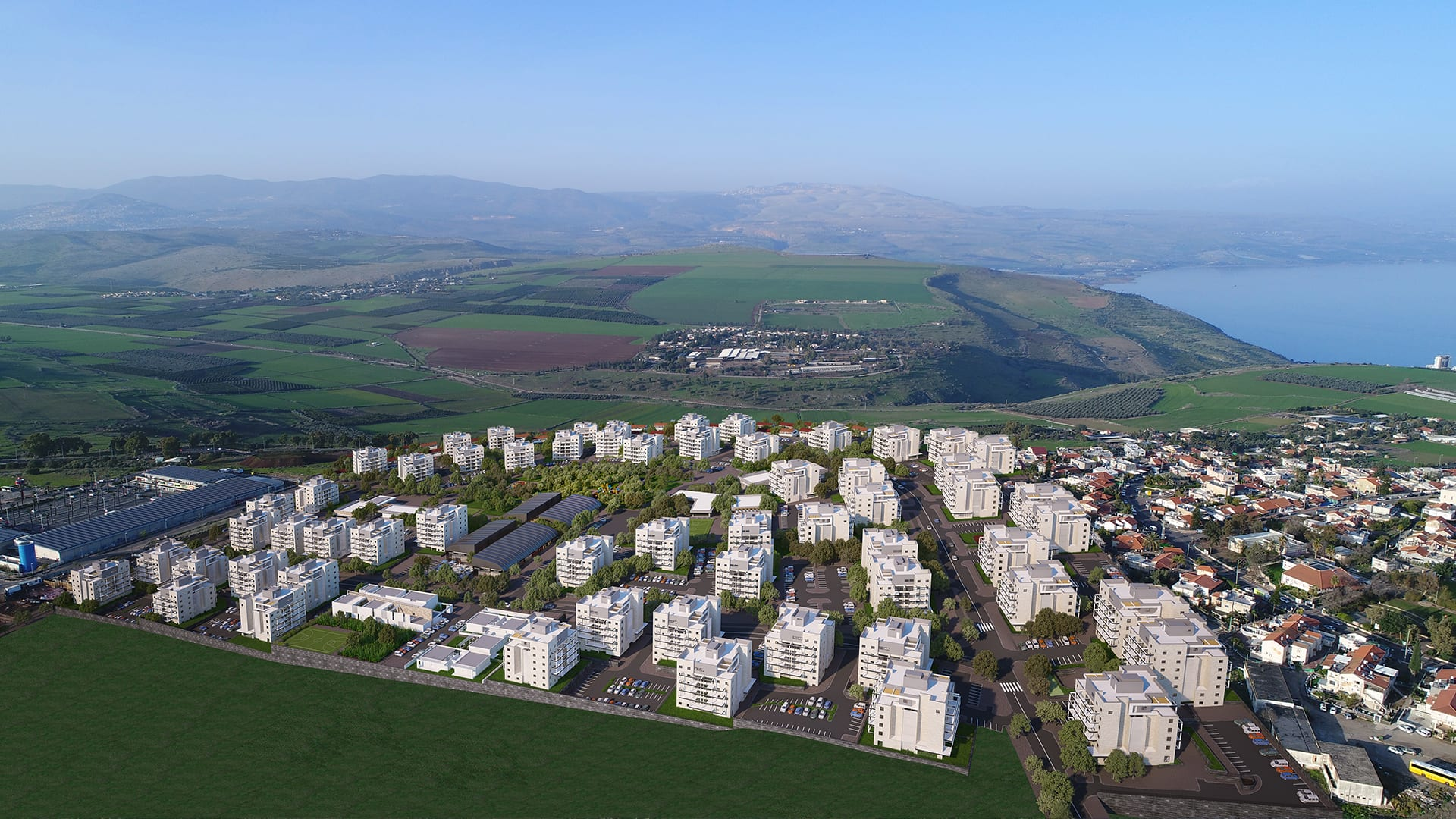 Maayan-Golan_Architectural-Visualization_exterior-visualization_bird-eye-view_ Residential neighborhood_Poriya-Tveria_02