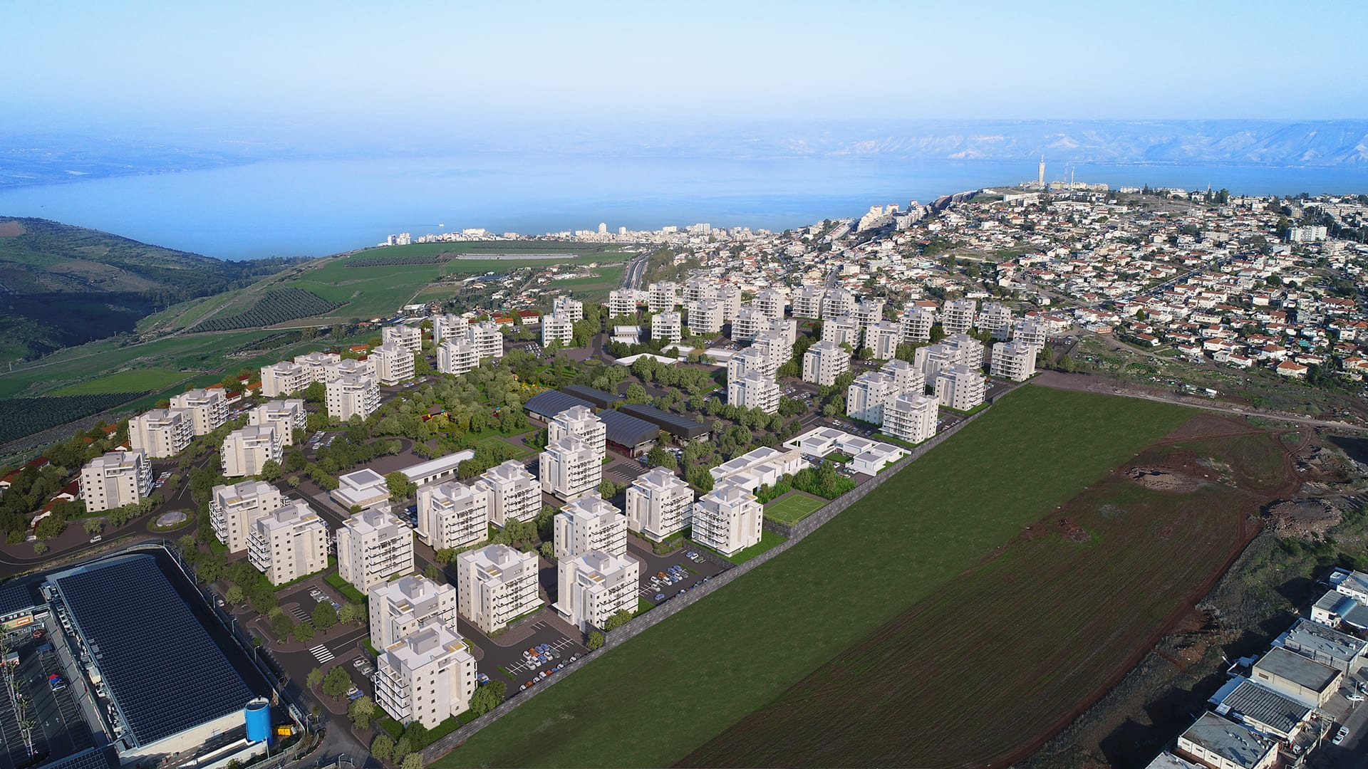 Maayan-Golan_Architectural-Visualization_exterior-visualization_bird-eye-view_ Residential neighborhood_Poriya-Tveria_03