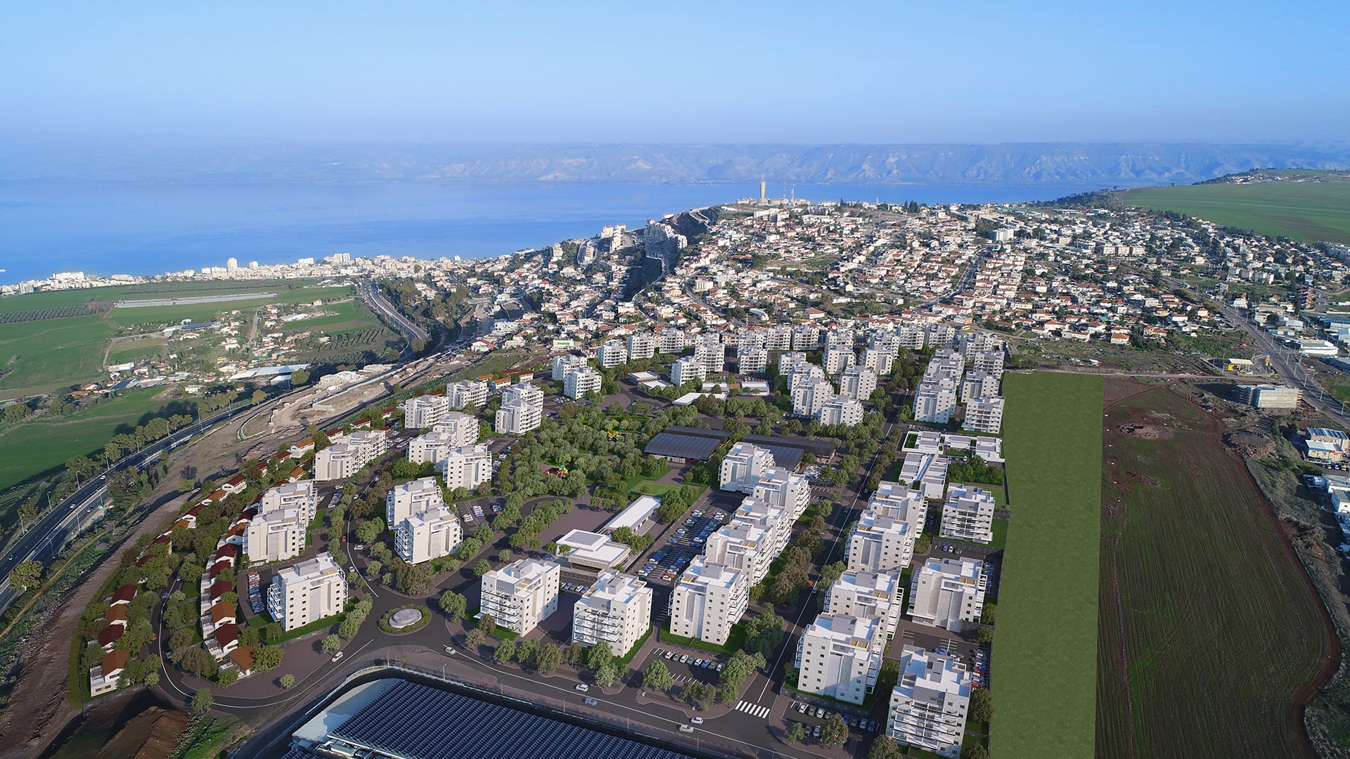Maayan-Golan_Architectural-Visualization_exterior-visualization_bird-eye-view_ Residential neighborhood_Poriya-Tveria_04