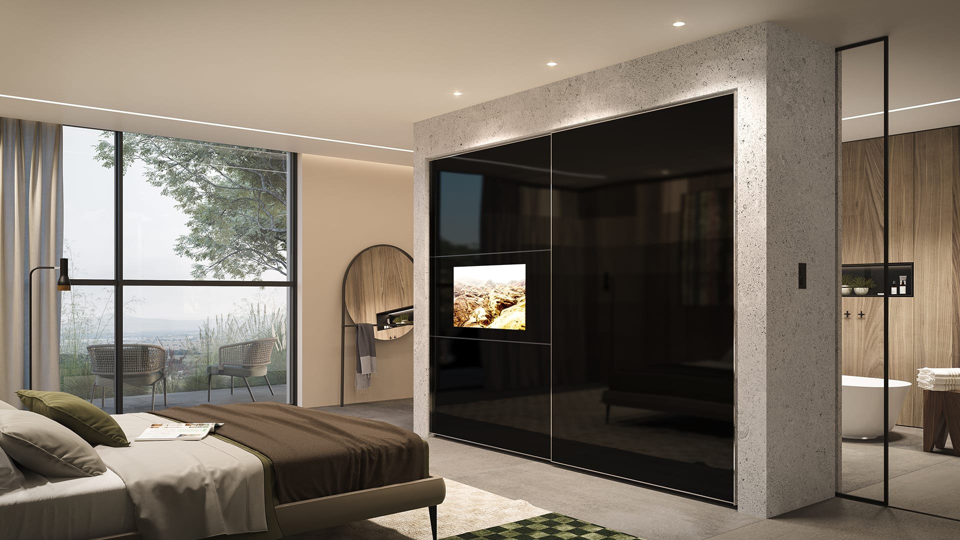 Maayan-Golan_Architectural-Visualization_product-visualization_AGAM-cloests_sliding-door-tv-black-closet_07