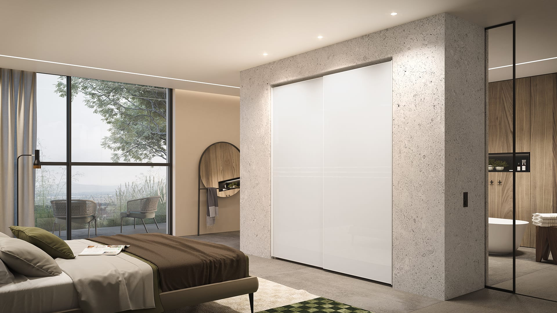 Maayan-Golan_Architectural-Visualization_product-visualization_AGAM-cloests_sliding-door-tv-white-closet_05